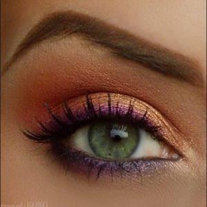 pembe altın göz makyajı