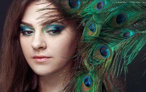 tavus kuşu göz makyajı