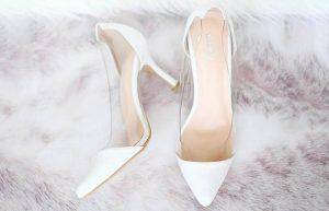 Şeffaf Beyaz Gelin Ayakkabısı