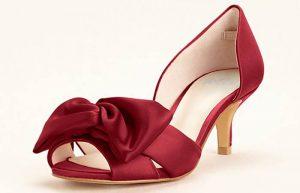 Kırmızı Renkli Gelin Ayakkabısı