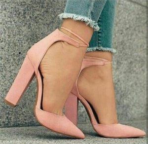 pembe yüksek topluklu yaz ayakkabısı