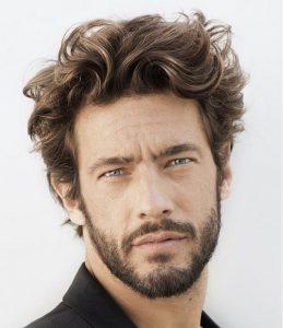 dağınık erkek saç modeli